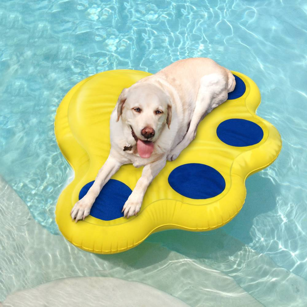 Paws Aboard Doggy Lazy Raft Large Yellow 50