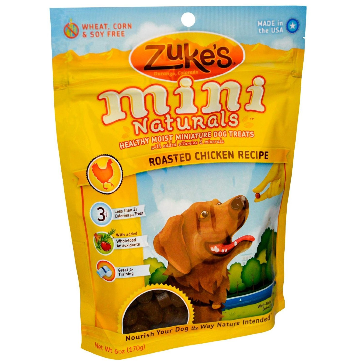 Mini Naturals Moist Miniature Treat for Dogs Roasted Chicken 6oz. 33051