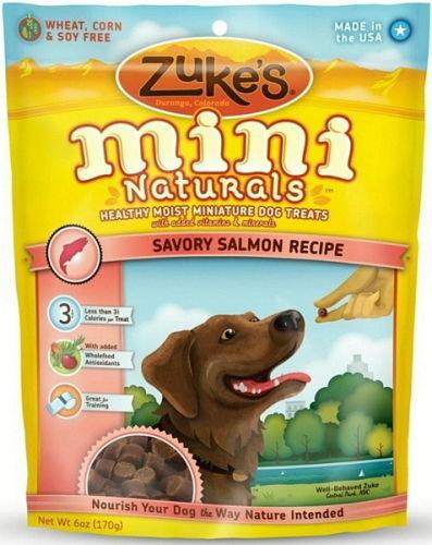 Mini Naturals Moist Miniature Treat for Dogs Savory Salmon 6 oz. 33054
