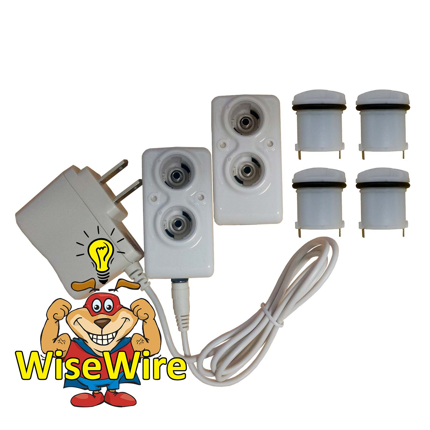 PSUSA WiseWire® Phoenix Two Recharging Units and Four Batteries White