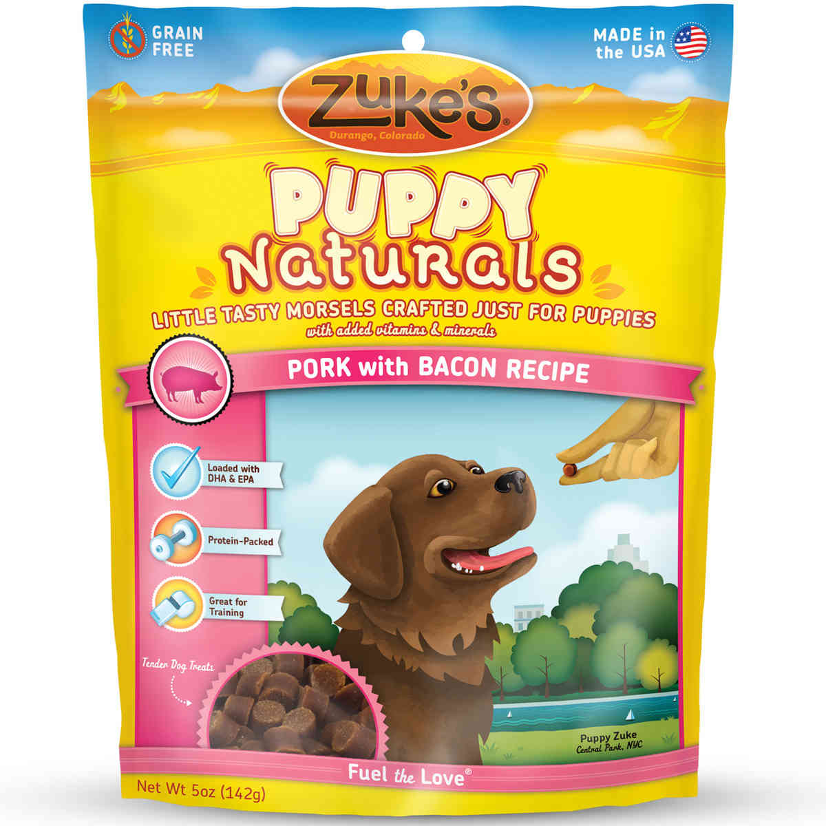 Zuke's Puppy Naturals Pork with Bacon 5 oz.