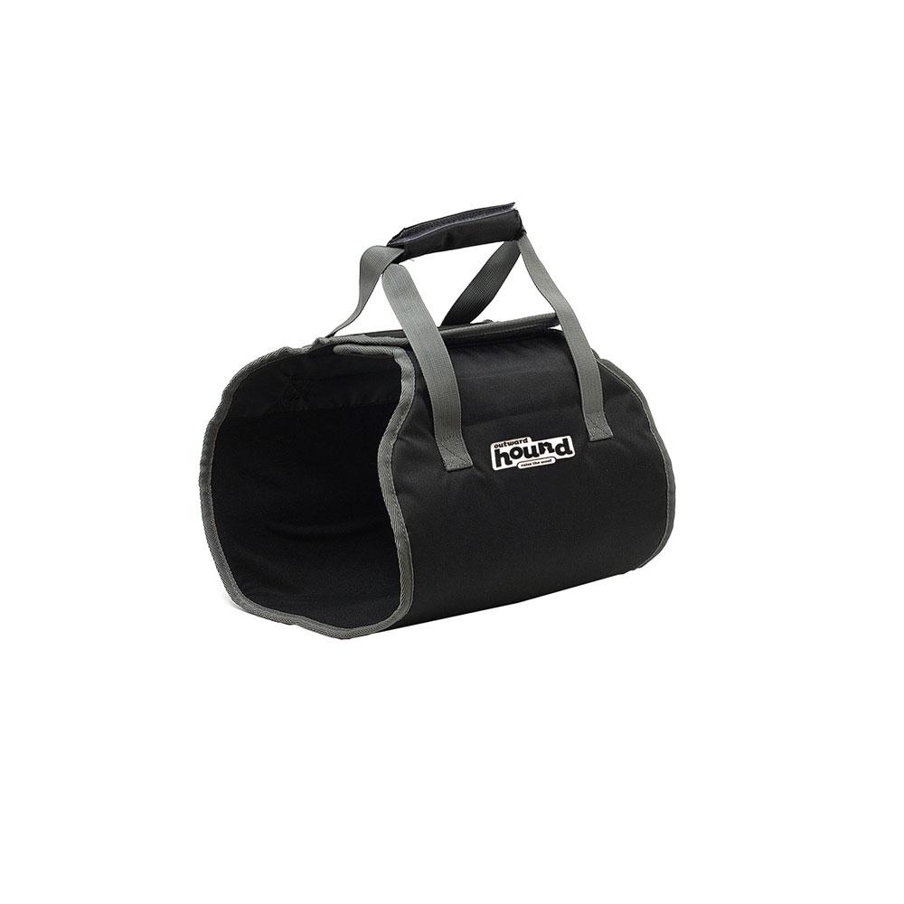 Outward Hound Kyjen PupBoost Lift Harness Dog Auto Velcro, Large, Black
