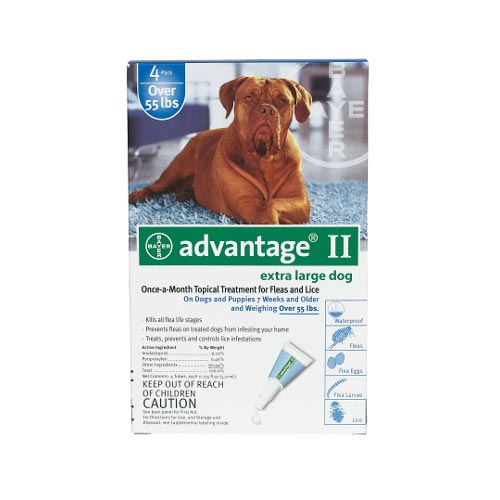 Flea Control for Dogs And Puppies Over 55 lbs 4 Month Supply