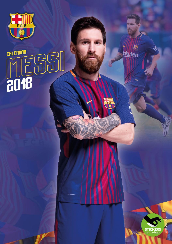 Lionel Messi Celebrity Wall Calendar 2018 8033675319995