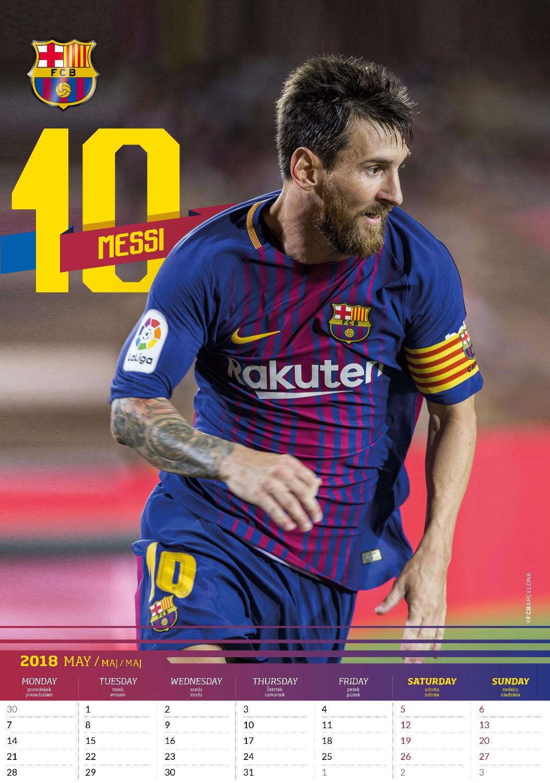 Lionel Messi Celebrity Wall Calendar 2018 inside 8033675319995