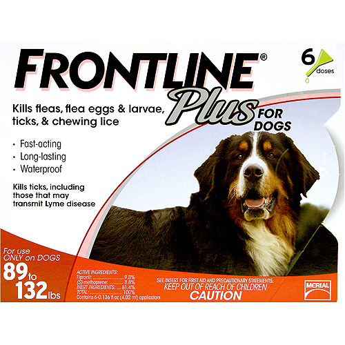 Flea Control Plus for Dogs And Puppies 89-132 lbs 6 Pack 89-132-6PK-PS