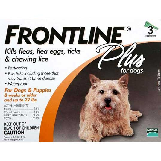 Flea Control Plus for Dogs And Puppies 11-22 lbs 3 Pack 11-22-3PK-PS